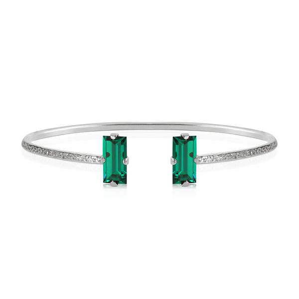 Baguette Bracelet / Emerald Rhodium