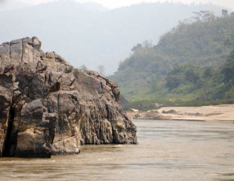 day 1 along the Mekong River.  Smoke from field burnings throughout the region.