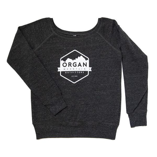 Organ Mountain Outfitters - Outdoor Apparel - Womens Outerwear - Fleece Scoopneck Sweatshirt - Charcoal Black.jpg