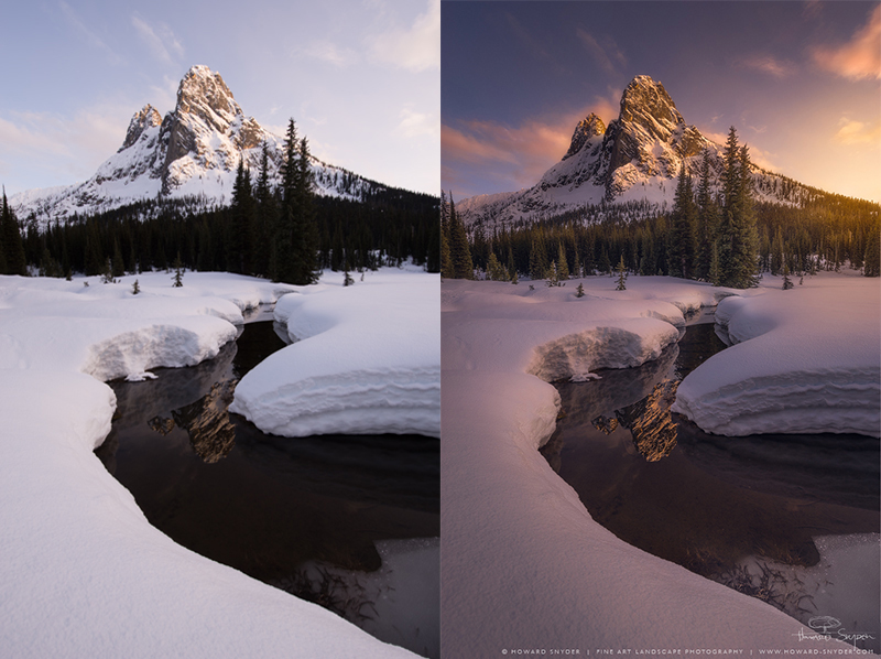 landscape photography tips before and after