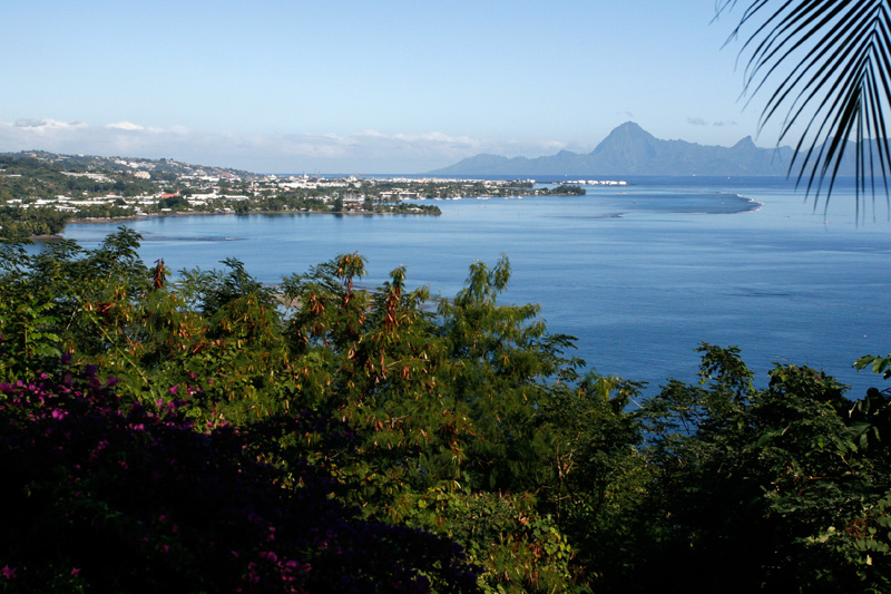 Took a 4x4 excursion on the 2nd day.  View of Papeete with Moorea in the background.