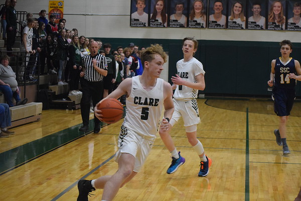 Standish-Sterling at Clare boys basketball