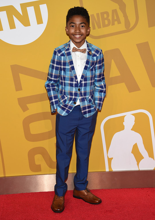 . Miles Brown arrives at the NBA Awards at Basketball City at Pier 36 on Monday, June 26, 2017, in New York. (Photo by Evan Agostini/Invision/AP)