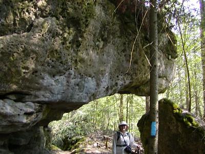 "Hiking the ""Rural Rocks"" a Bruce side trail"