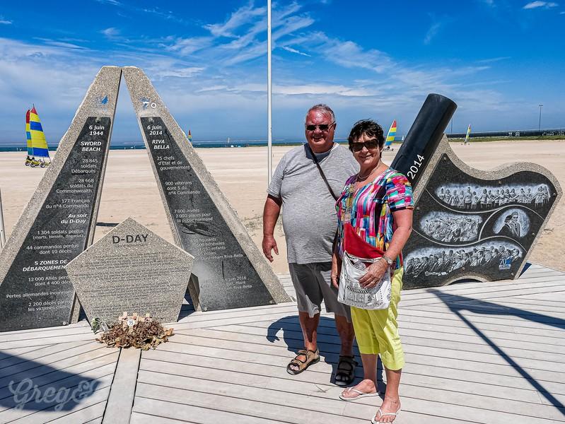 Rose and Greg at Sword Beach 70 year  Memorial