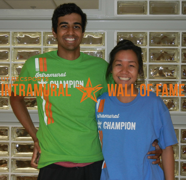 SPRING TENNIS Coed Doubles Champion  Hersh Pise and Anh Phan