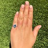 1.41ctw Art Deco Style Aqua and Diamond Dinner Ring 16
