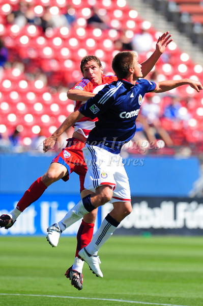 29, March 2009:  FC Dallas defender Aaron Pitchkolan #17 & Chivas USA middle Jesse Marsch (Cap) #15 in action during the soccer game between FC Dallas & Chivas USA at the Pizza Hut Stadium in Frisco,TX. Chivas USA  beat FC Dallas 2-0.Manny Flores/Icon SMI