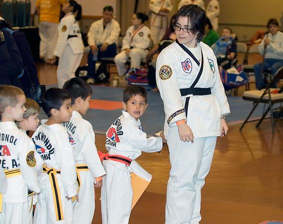 Connor's 1st Taekwondo Tournament, Mesa -- 1/28/2006