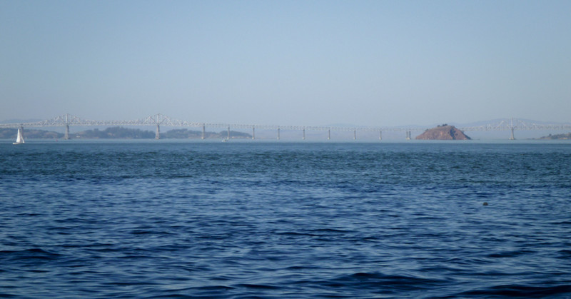 Clear skies, flat seas... we could see clearly to Red Rock and the Richmond Bridge.