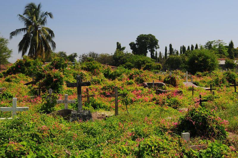 a cemetery in the Kisimbazi neighborhood of Dar es Salaam