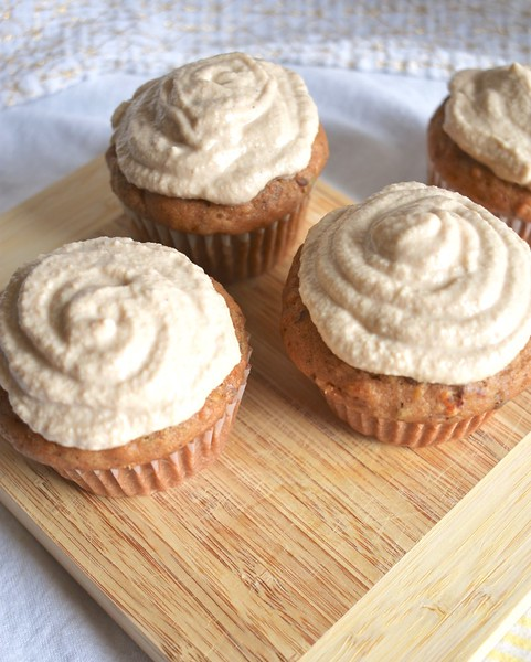 Carrot Cupcakes with Cashew Frosting