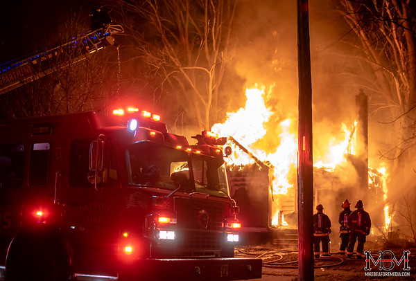 Detroit MI, House Fire 1-28-2020