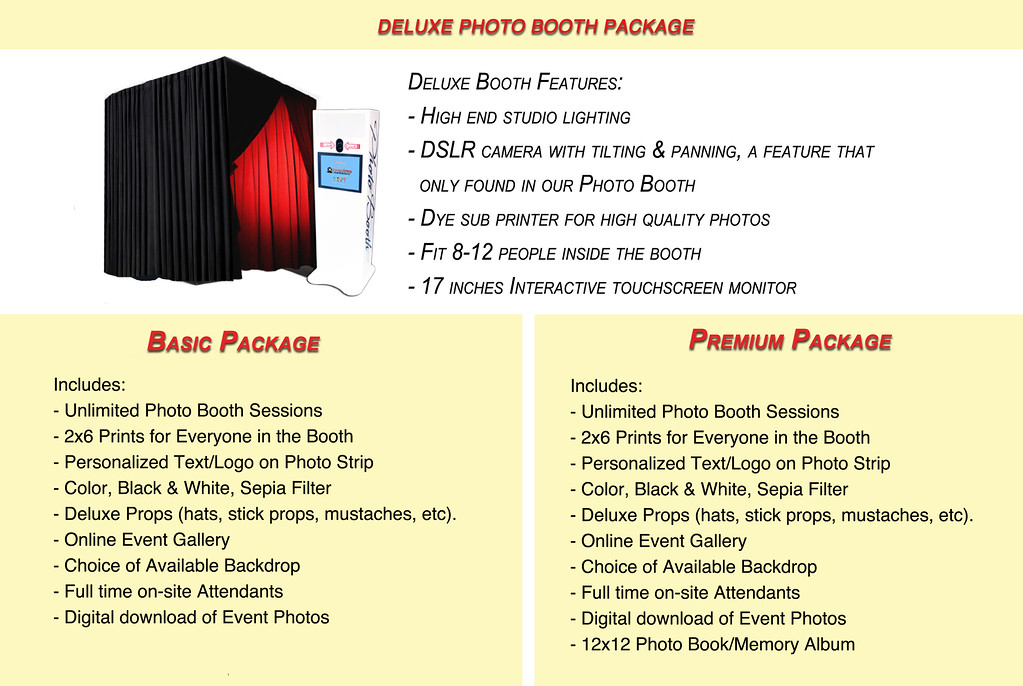 Deluxe Enclosed Photo Booth