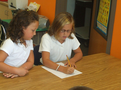 KC's Fourth Grade Buddies September Visit