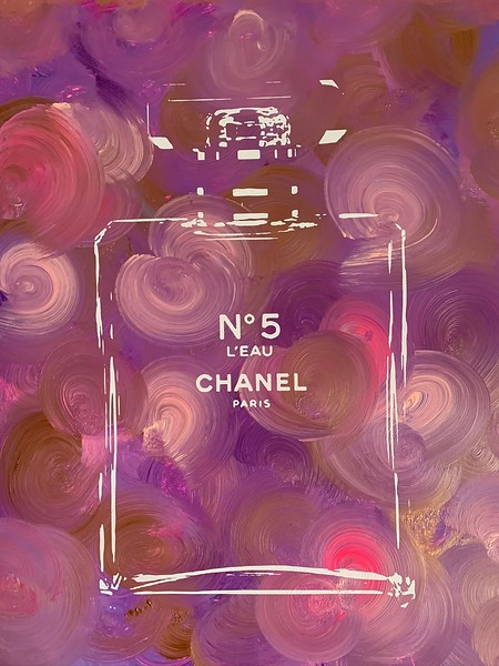 CHANEL PAINTINGS WITH SCREEN PRINT