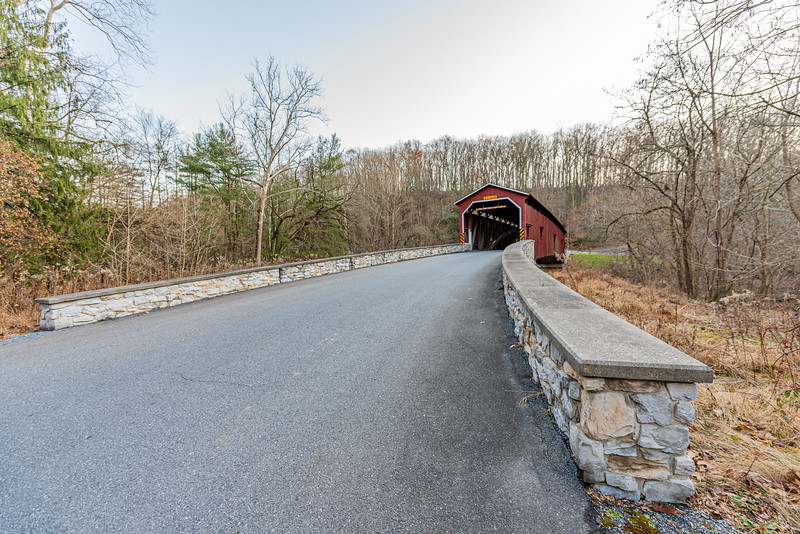 Approaching Colemanville Covered Bridge