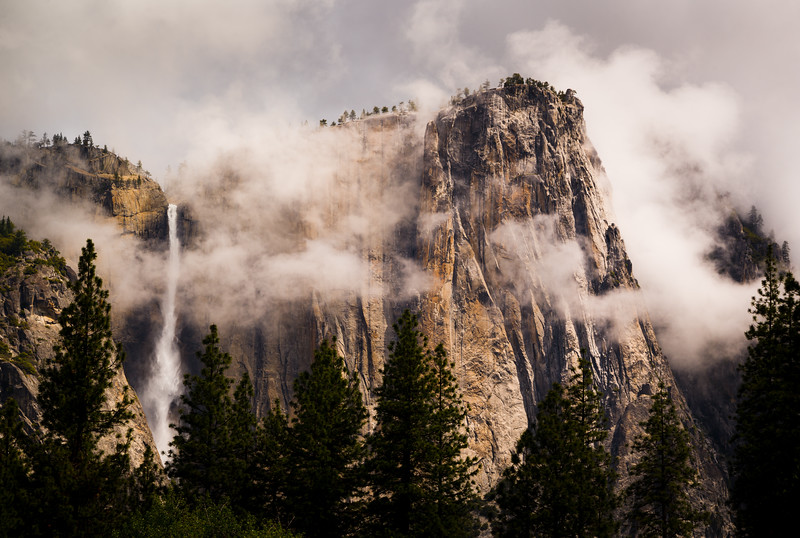 Clearimg Storm, Yosemite Point and Yosemite Falls