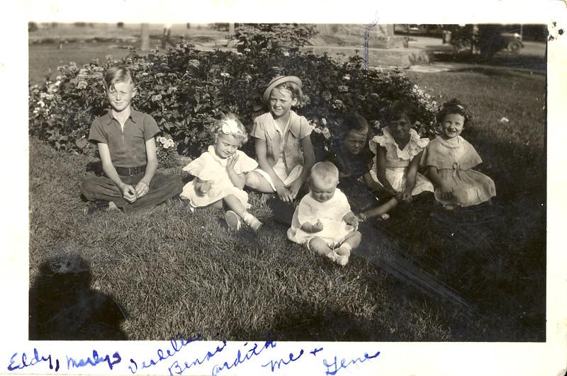 Olson family Eddy, Verdella, Dolores, Ardith, Benai