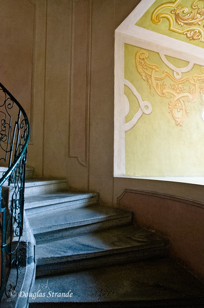 Curved stairway at Melk Abbey