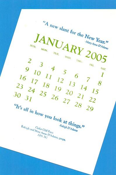 January, 2005, Cedar Cliff Press