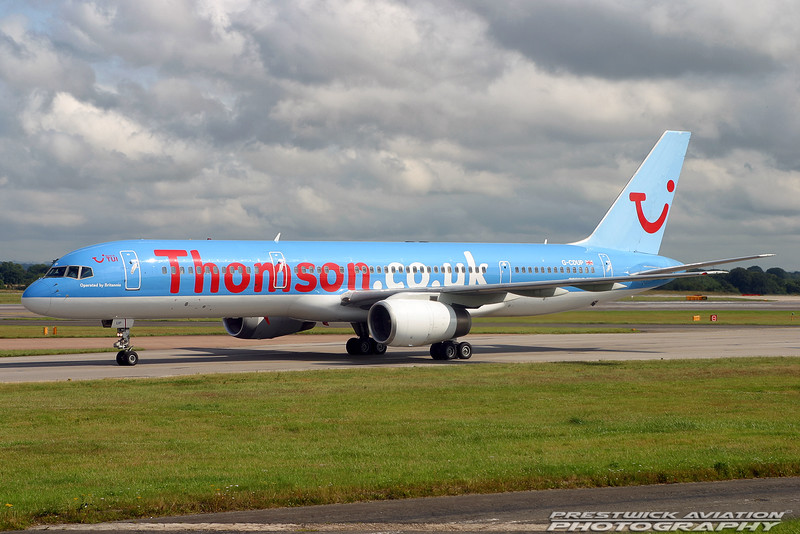 G-CDUP. Boeing 757-236. Thomson Airways. Manchester. 170704.