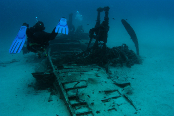 Wrecks and other things submerged.