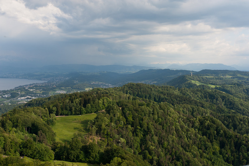 View of the city of Zurich from Uetliberg in Switzerland