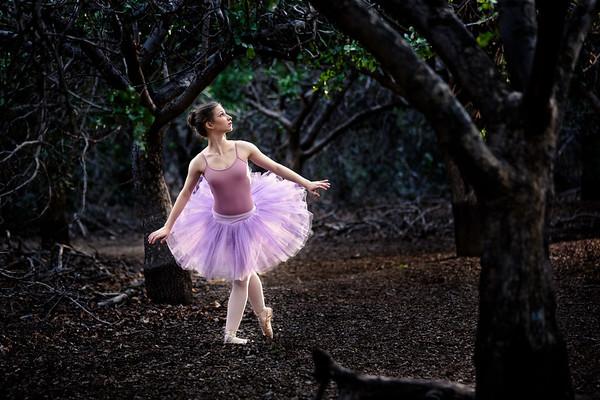 Senior portrait of ballett dancer in gilbert arizona.