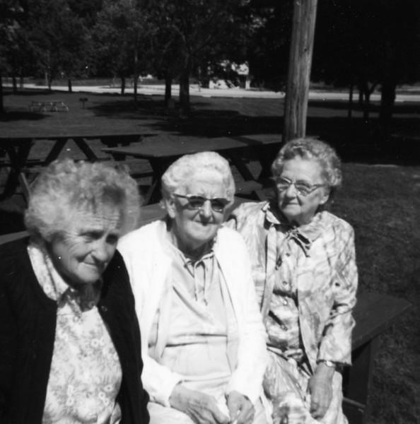 Hazel (Lees) Edwards, Huldah Dodrill, Sylva (Dodrill) Ladow  Hazel is Ike Lees daughter, Huldah is the wife of William Dodrill (Grandpa Dodrill's brother), and Sylva is Grandpa's sister.