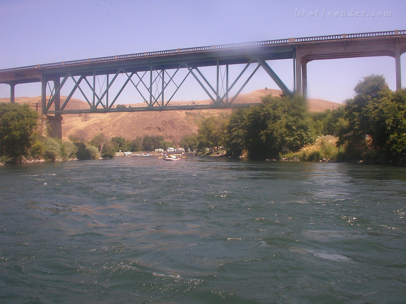Ah, the Maupin Bridge. The pull out is just ahead.