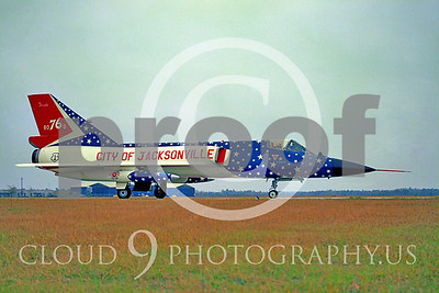 Air National Guard F-106 Delta Dart Airplanes in Bicentennial Color Schemes