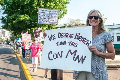 Control Corruption/Demand Democracy vigil in Ashland