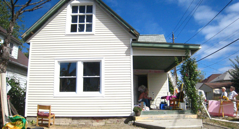 10 09-10 House #21 nearly complete. Amazing transformation in 5 days!   Frances Meneely