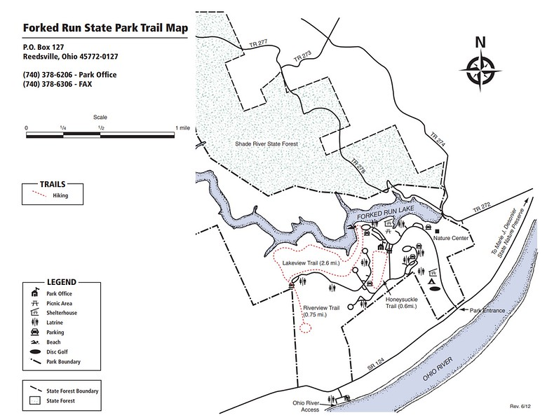 Forked Run State Park (Trails Map)