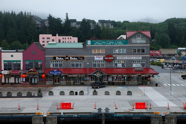 Time to buy a Harley tee shirt in Ketchikan.