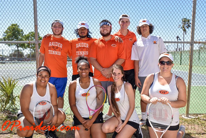 OP Tennis Team Photos and Senior Recognition