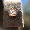 .52ctw Asscher Cut Diamond Bezel Stud Earrings, 18kt Rose Gold 30