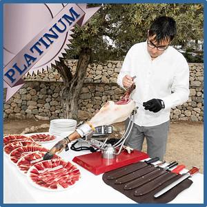 40305 Spanish ham cut by maestro cortador Platinum