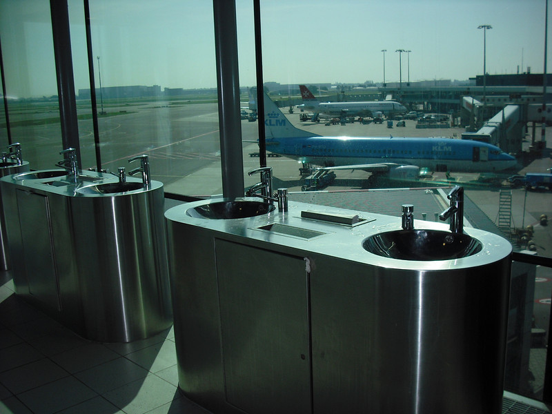 Reykjavik, Iceland airport bathroom.  Yeah, the excitement was building, how can you not love a country with such a nice airport bathroom?