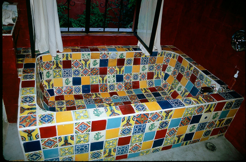our bathtub at Casa Luna