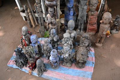 Benin: Ouidah: Voodoo Temple 2019