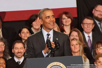Presidents Barack Obama at the Copernicus Center