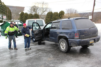 MVA, From Icy Road, Parking Lot, Beacon Diner, Hometown (12-28-2012)