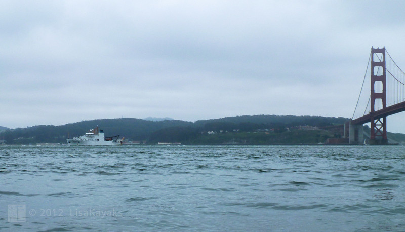 The NOAA ship coming in.