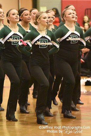2/2/2019 Damascus HS at MCPS County Poms Championship Blair HS Division 1,  Photos by Jeffrey Vogt Photography with Kyle Hall