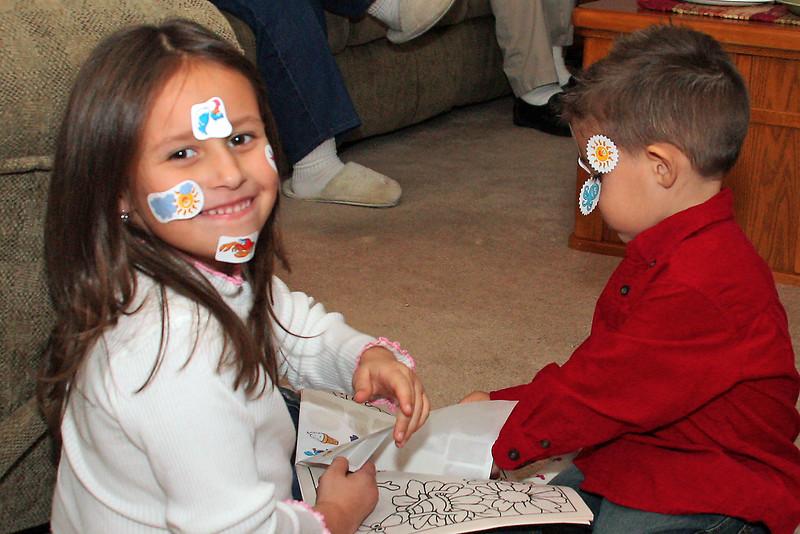 Yaz and JJ Sticker Play