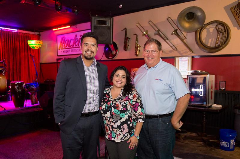 Luis Sanchez(left) Michelle Hinojosa and Bill Stockley at the CCU40 Kick off event in Corpus Christi, Tx.