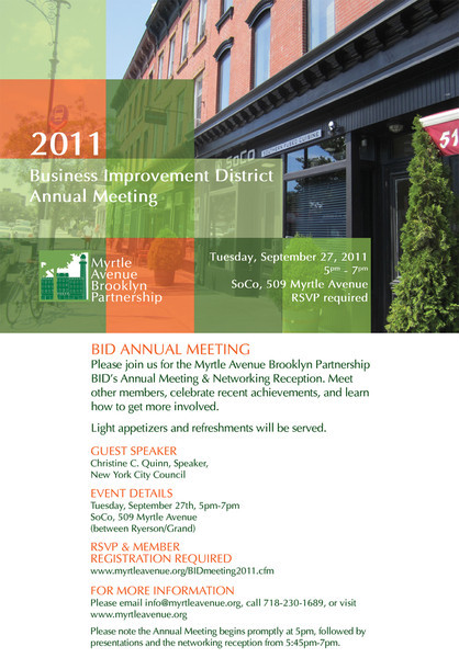 MyrtleAveBklynPartnershipBID-2011 Annual Meetting