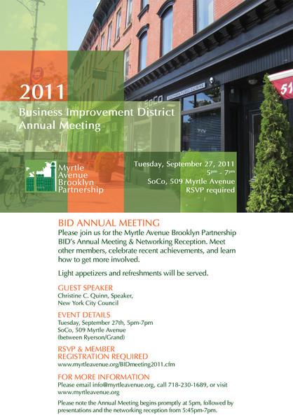 MyrtleAveBklynPartnershipBID-2011 Annual Meetting